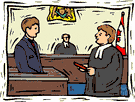Barrister infront of the defendant
